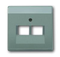 1710-0-3853 (1803-02-803) BJE Solo/Future Серый Металлик Накладка 2-ой ТЛФ и комп розетки наклонной (мех214/15/17)