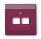 1710-0-3218 (1803-02-87) BJE Solo/Future Красный Накладка 2-ой ТЛФ и комп розетки наклонной (мех214/15/17)
