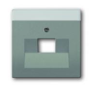 1710-0-3852 (1803-803) BJE Solo/Future Серый Металлик Накладка 1-й ТЛФ и комп розетки наклонной (мех 213/16)