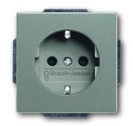 2013-0-5297 (20 EUCKS-803) BJE Solo/Future Серый Металлик Розетка с/з с защитными шторками