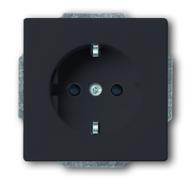 2013-0-5265 (20 EUCKS-81) BJE Solo/Future Чёрный Антрацит Розетка с/з с защитными шторками