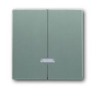 6599-0-2943 (6545-803) BJE Solo/Future Серый Металлик Накладка двухканального нажимного светорегулятора