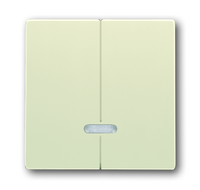 6599-0-2907 (6545-82) BJE Solo/Future Крем Накладка двухканального нажимного светорегулятора