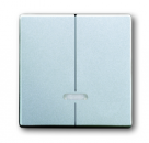 6599-0-2914 (6545-83) BJE Solo/Future Алюминий Накладка двухканального нажимного светорегулятора