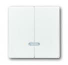 6599-0-2908 (6545-84) BJE Solo/Future Бел Накладка двухканального нажимного светорегулятора