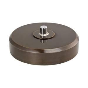 80x17 мм 1 кнопка на 230 В Темная бронза
