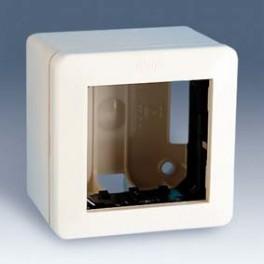 27753-65 27 Белая Коробка открытой установки 27601-65, 27611-65, 85х85х37мм