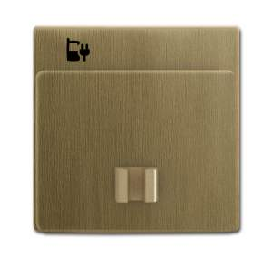 6400-0-0036 (6478-840-500) BJE Династия Античная латунь Накладка 6478-82 блока питания micro USB - 6474 U