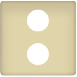 Бежевая Накладка ТВ розетки 2-ой арт. FD0322-A