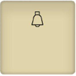 Бежевая Клавиша с символом звонок 2 мод арт. FD17716-A
