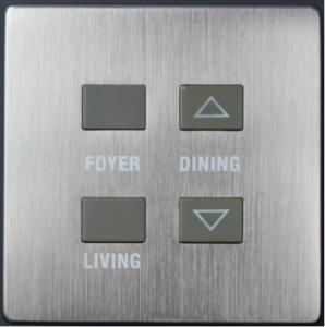 HDL-MPH104.48 4-клавишная Smart панель серии iElegance, сталь