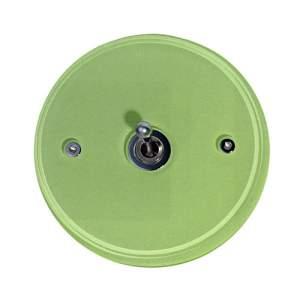 D 98x6 мм 1 выключатель на круглой накладке из стекла