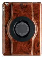 LaunchPort STRUT Walnut Burl Finish Case for iPad 2/3