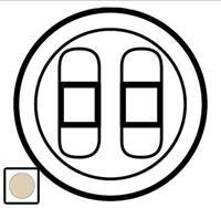 66241 Celiane Беж Накладка 2-ой аудиорозетки (2 мех 67311)
