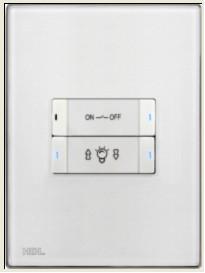 HDL-MP4B.46P 4-клавишная панель, австралийский/US стандарт (в сборе с шинным соединителем HDL-MPPI.46)