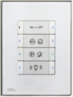 HDL-M/P04.2-46 4-клавишная панель KNX, австралийский/US стандарт (без шинного соединителя HDL-M/PCI.3)