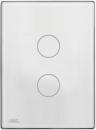 HDL-MPT2.46P 2-клавишная сенсорная Smart панель, LED индикация, австралийский/US стандарт  (в сборе с шинным соединителем HDL-MPPI.46)