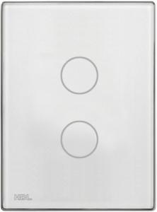 HDL-MPT2.46 2-клавишная сенсорная Smart панель, LED индикация, австралийский/US стандарт (без шинного соединителя HDL-MPPI.46)