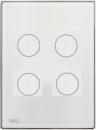 HDL-MPT4.46P 4-клавишная сенсорная Smart панель, LED индикация, австралийский/US стандарт  (в сборе с шинным соединителем HDL-MPPI.46)