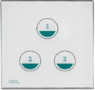 HDL-MPT3.48P 3-клавишная сенсорная Smart панель, LED индикация, европейский стандарт (в сборе с шинным соединителем HDL-MPPI.48)