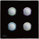 HDL-MP04R.48P 4-клавишная кнопочная Smart панель, LED индикация, европейский стандарт (в сборе с шинным соединителем HDL-MPPI.48)