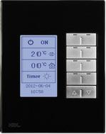 HDL-MPL8.48P Клавишная настенная панель с экраном DLP, европейский стандарт (в сборе шинным соединителем HDL-MPPI.48)Сменные рамки и обрамления (Стандартные цвета: Белое/Черное стекло. Все нестандартные расцветки по запросу. Металлические рамки - плюс 20$)