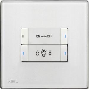 HDL-MP4B.48P 4-клавишная панель, европейский стандарт (в комплекте с шинным соединителем HDL-MPPI.48)