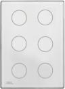 HDL-M/TBP6.1-46  6-клавишная сенсорная Smart панель KNX, LED индикация, австралийский/US стандарт (без шинного соединителя HDL-M/PCI.3)