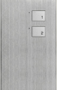 HDL-M/P01.3 2-клавишная панель KNX, Алюминий с серебристыми клавишами, австралийский/US стандарт (без шинного соединителя HDL-M/PCI.2)