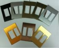 HDL Metal Facial Plate Внешняя металлическая рамка для клавишных, сенсорных или DLP панелей. (Европейский и австралийский/US стандарт)