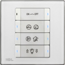 HDL-MP8B.48P 8-клавишная панель, европейский стандарт (в комплекте с шинным соединителем HDL-MPPI.48)