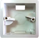Е157P Монтажная коробка, квадратная, пластик