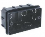Е503 Пластмассовая монт. коробка (B). Для панелей австралийского/US стандарта