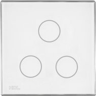 HDL-M/TBP3.1-48  3-клавишная сенсорная Smart панель KNX, LED индикация, европейский стандарт (без шинного соединителя HDL-M/PCI.1)