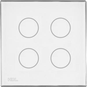 HDL-M/TBP4.1-48  4-клавишная сенсорная Smart панель KNX, LED индикация, европейский стандарт (без шинного соединителя HDL-M/PCI.1)